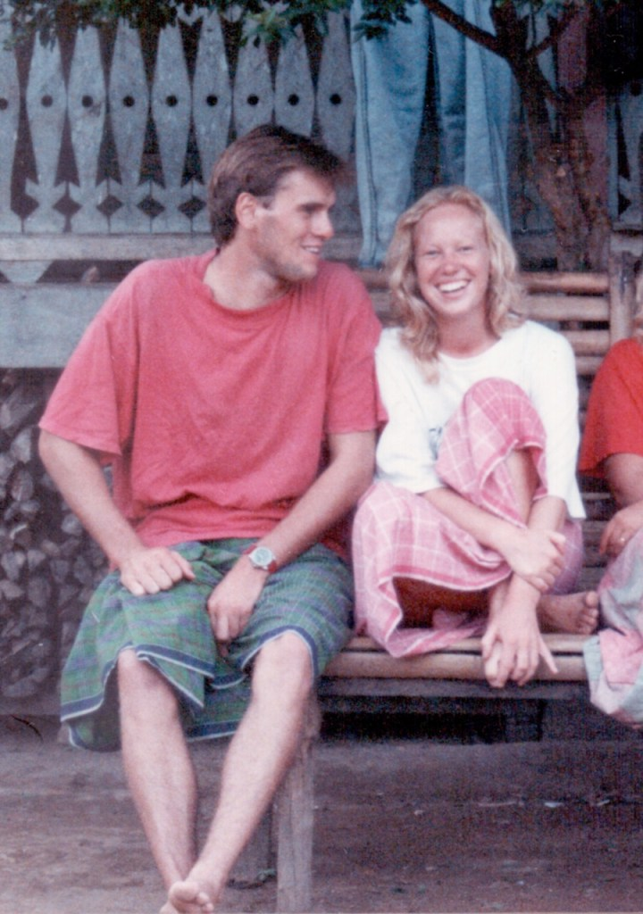 Matt and Wendy backpacking in Sumatra 1991