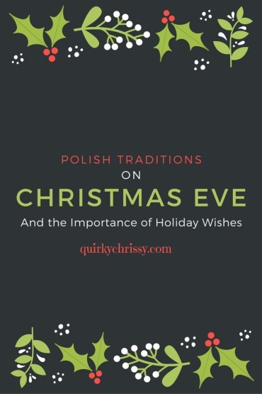 My family celebrates Christmas Eve with oplatki and other Polish traditions, granting each other wishes for the coming year.