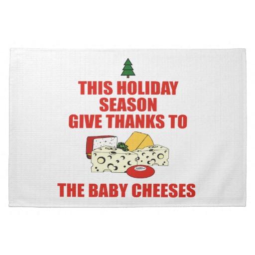 Holiday Cheese Dish Towel
