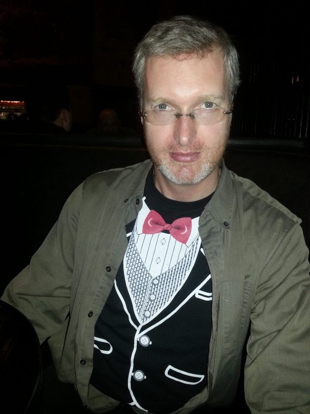 Brian snuck the tuxedo tee-shirt to dinner and revealed it when I least expected it. As if you didn't already love him!