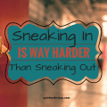 Sneaking In is WAY Harder than Sneaking Out