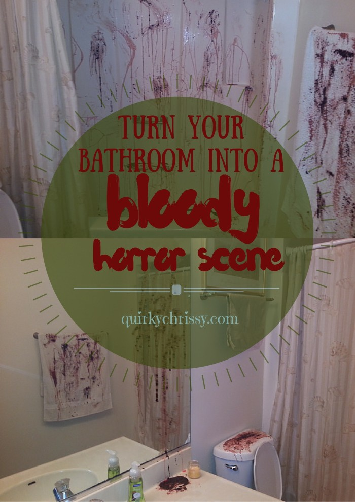 48c83b9446e2 DIY Halloween Bathroom Decor. Or How Chrissy is SERIOUSLY Twisted ...