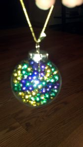 Mardi Gras Beads Ornament