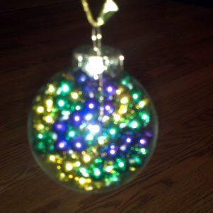 Mardi Gras Beads Ornament