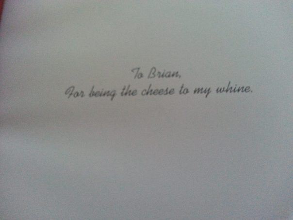 Heartfelt Books dedication page