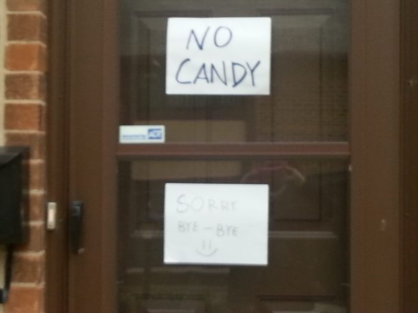 Sorry No Candy
