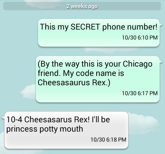Secret Phone and Code Name