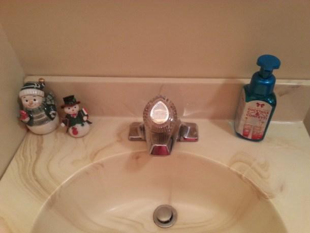 Downstairs Bathroom - snowmen