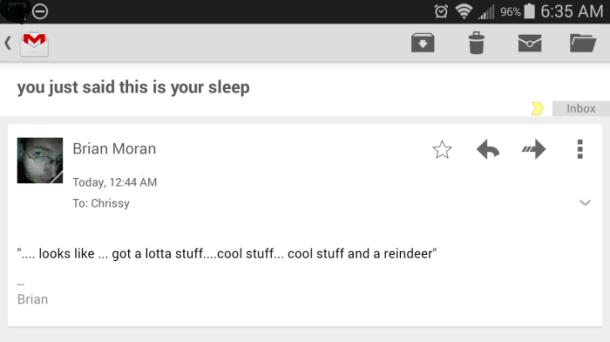 I talk in my sleep