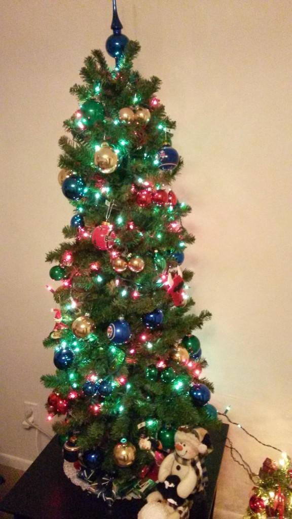 Sports themed Christmas tree
