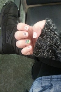 Gratuitous nail photo: The spring nails that brought the Chicago spring snow