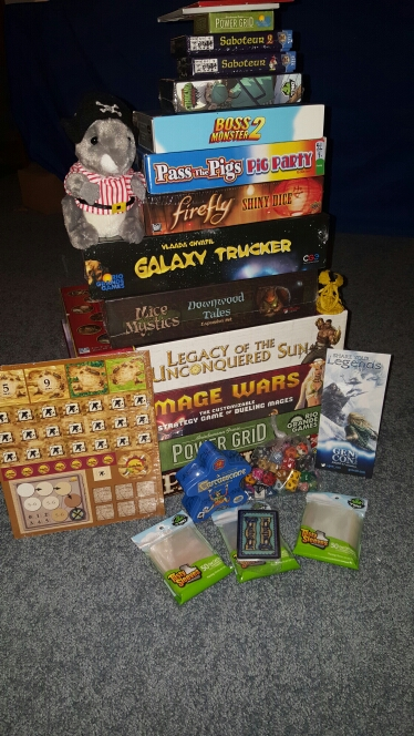 We picked up a few new games to add to our collection from GenCon this weekend.