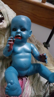 creepy baby doll halloween decorations