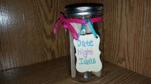 Wedding shower games: Date Jar