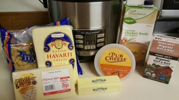 Ingredients for rice cooker mac and cheese