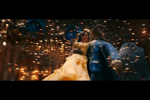 Belle and Beast dancing during the titular song