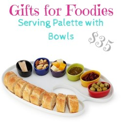 Gifts for foodies: serving palette with bowls $35