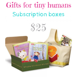 Gifts for tiny humans Let's Grow Play and learn Box $25