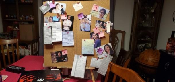 Hunt a Killer murder board