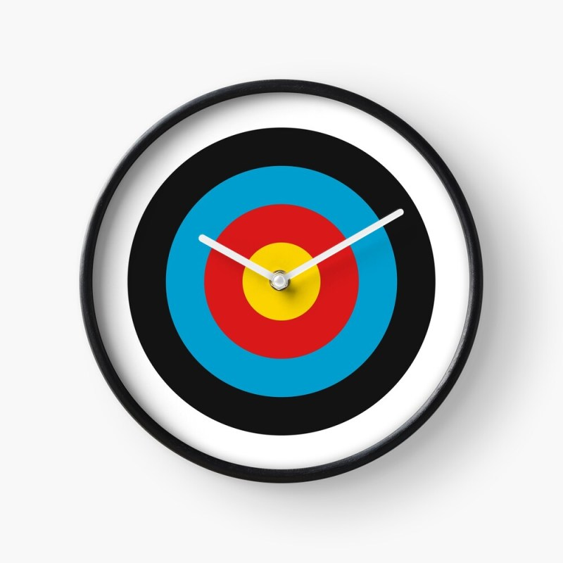 Archery target clock