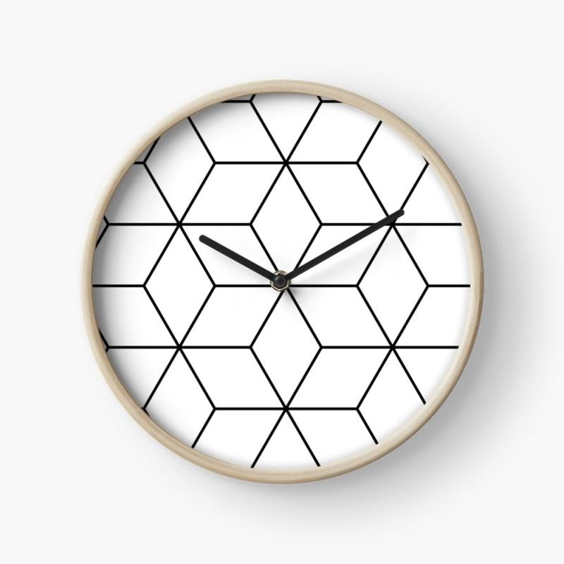 geometric cube clock