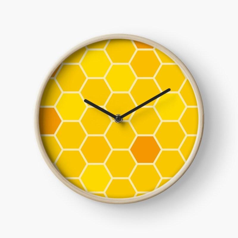 honeycomb clock
