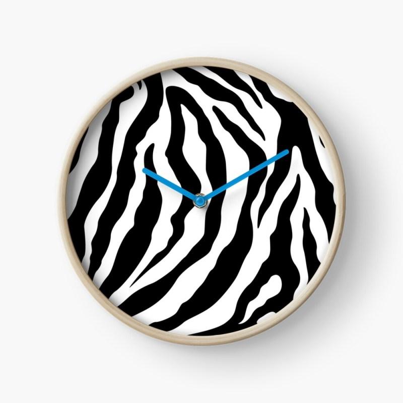 zebra stripes clock
