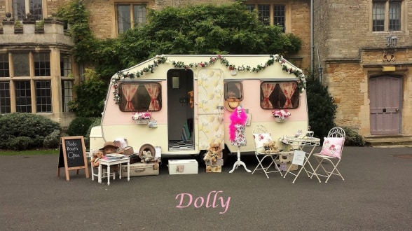 dolly the vintage caravan photo booth hire