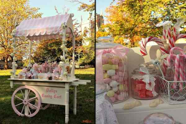 wedding candy cart hire