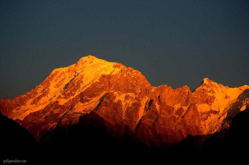 Spotting Om Over the Kinner Kailash mountain range