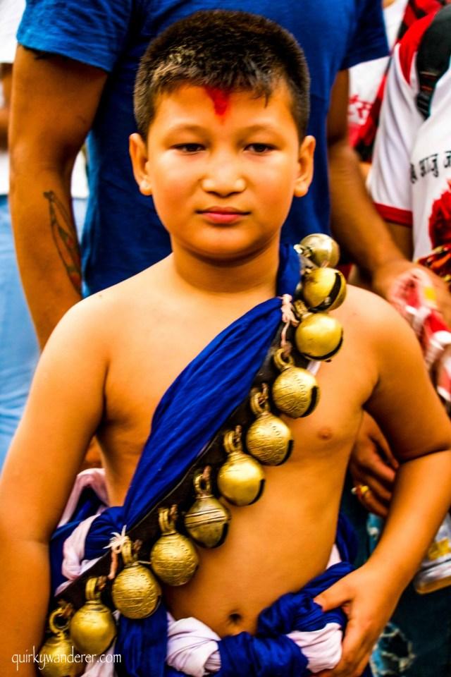 Costumes in the Kumari festival
