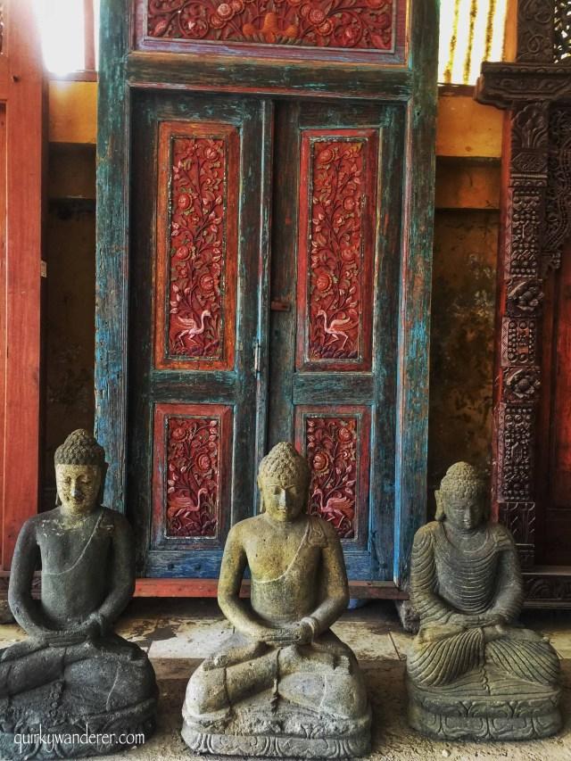 Balinese wooden doors