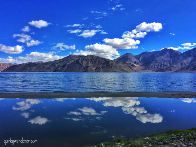 Skies at pangong lake