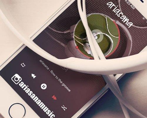 DJ Web Design - Ariasana Music Yoga - Design Portfolio - By Quiver Creative