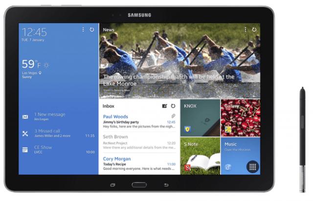 Galaxy Note Pro Especificaciones