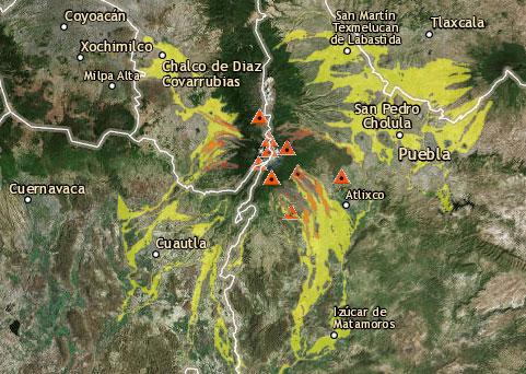 Mapa Lahares