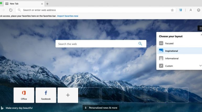 Microsoft Edge basado en Chromium
