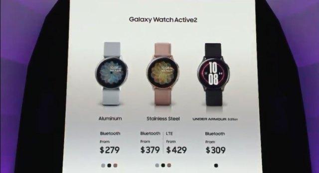 Precios Galaxy Watch Active 2