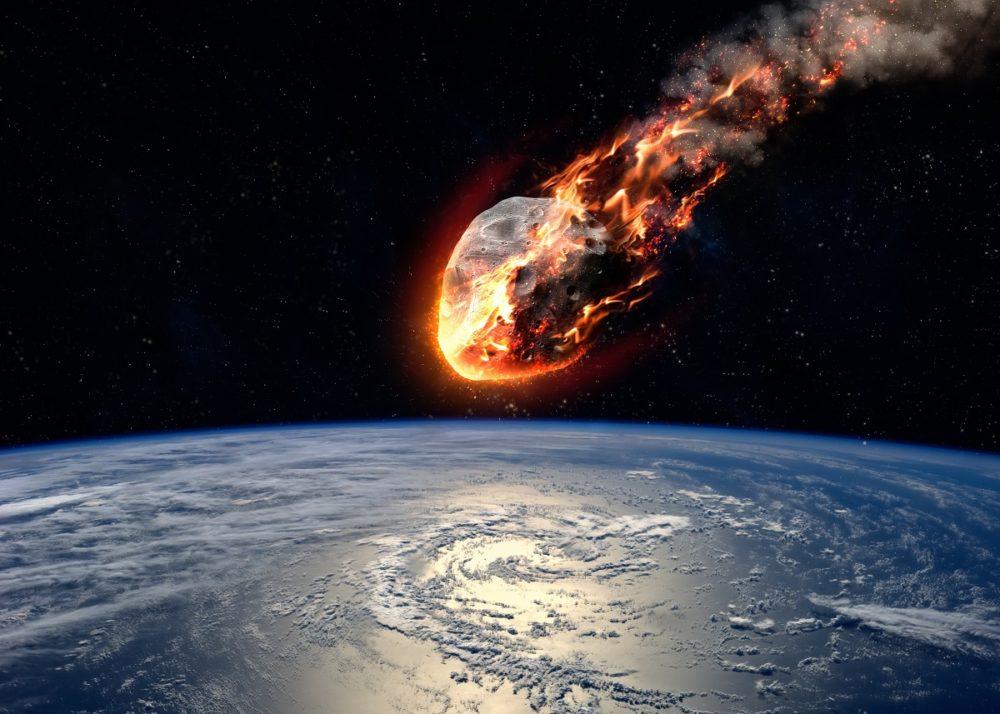 meteorito impactandose contra la tierra scaled