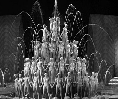 Women arranged around a fountain in a Busby Berkeley film