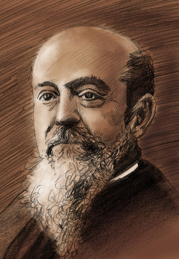 Portrait drawing of Vilfredo Pareto, from one of the few photographs of the man available. Image at Alchetron. Artist?