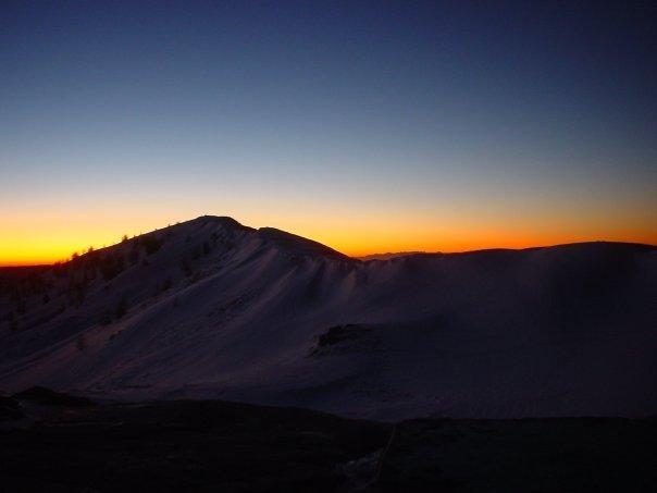 tramonto al rifugio sanremo