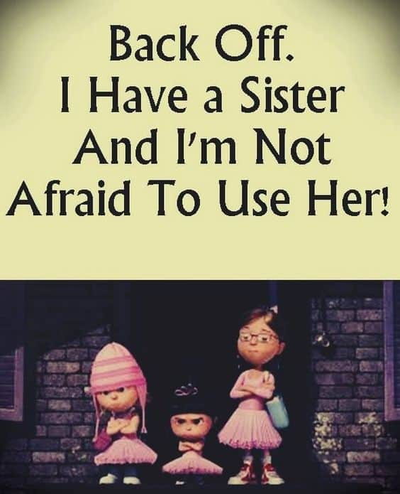 Top 100 Sister Quotes And Funny Sayings With Images Funny Sister Quotes
