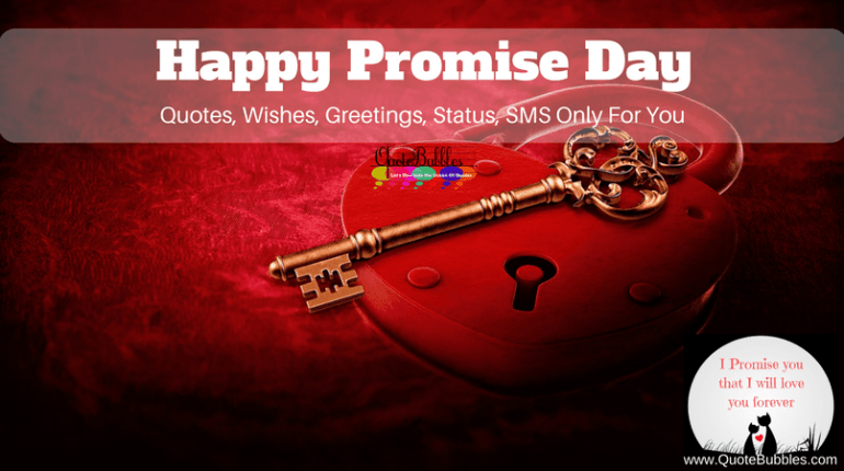 Happy Promise Day Quotes, Wishes, Status 2018 [English] - QuoteBubbles