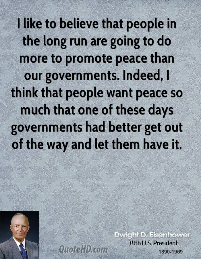 Image result for eisenhower on peace