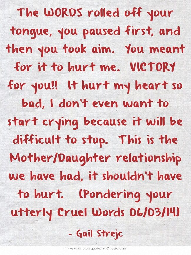 Bad Daughter Mother Relationship Quotes