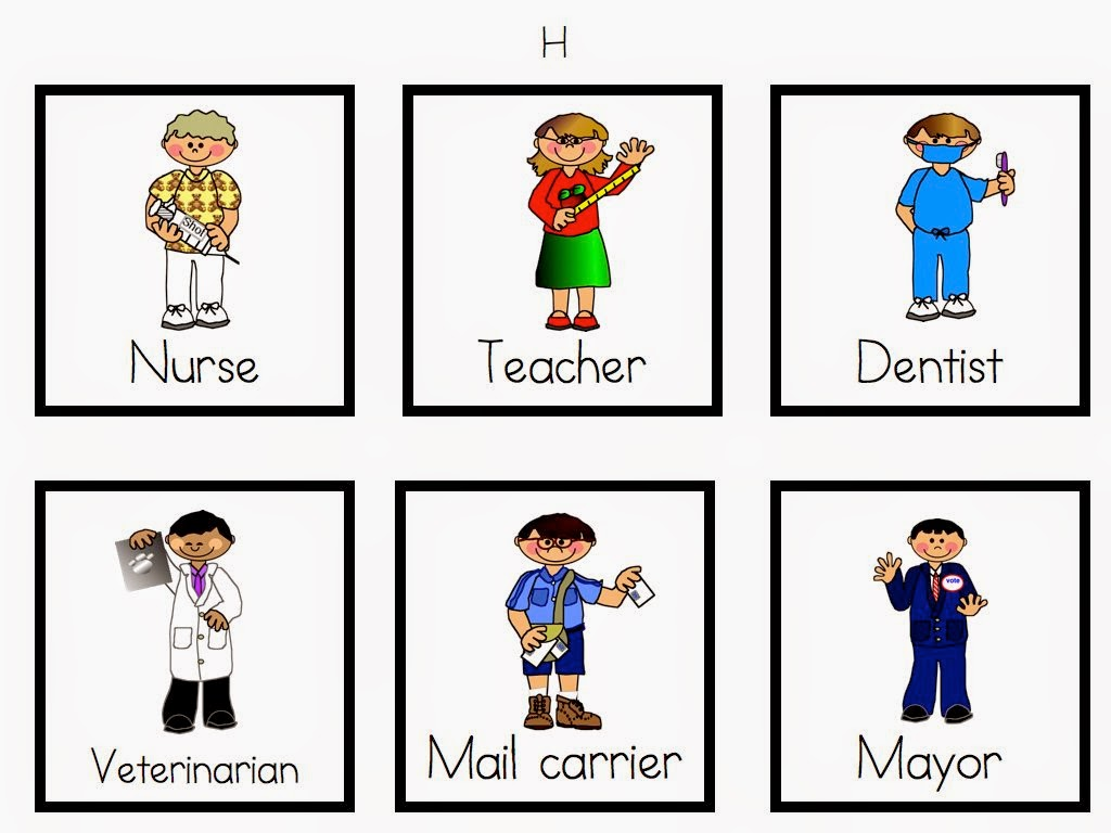 Careers Worksheet For Kindergarten