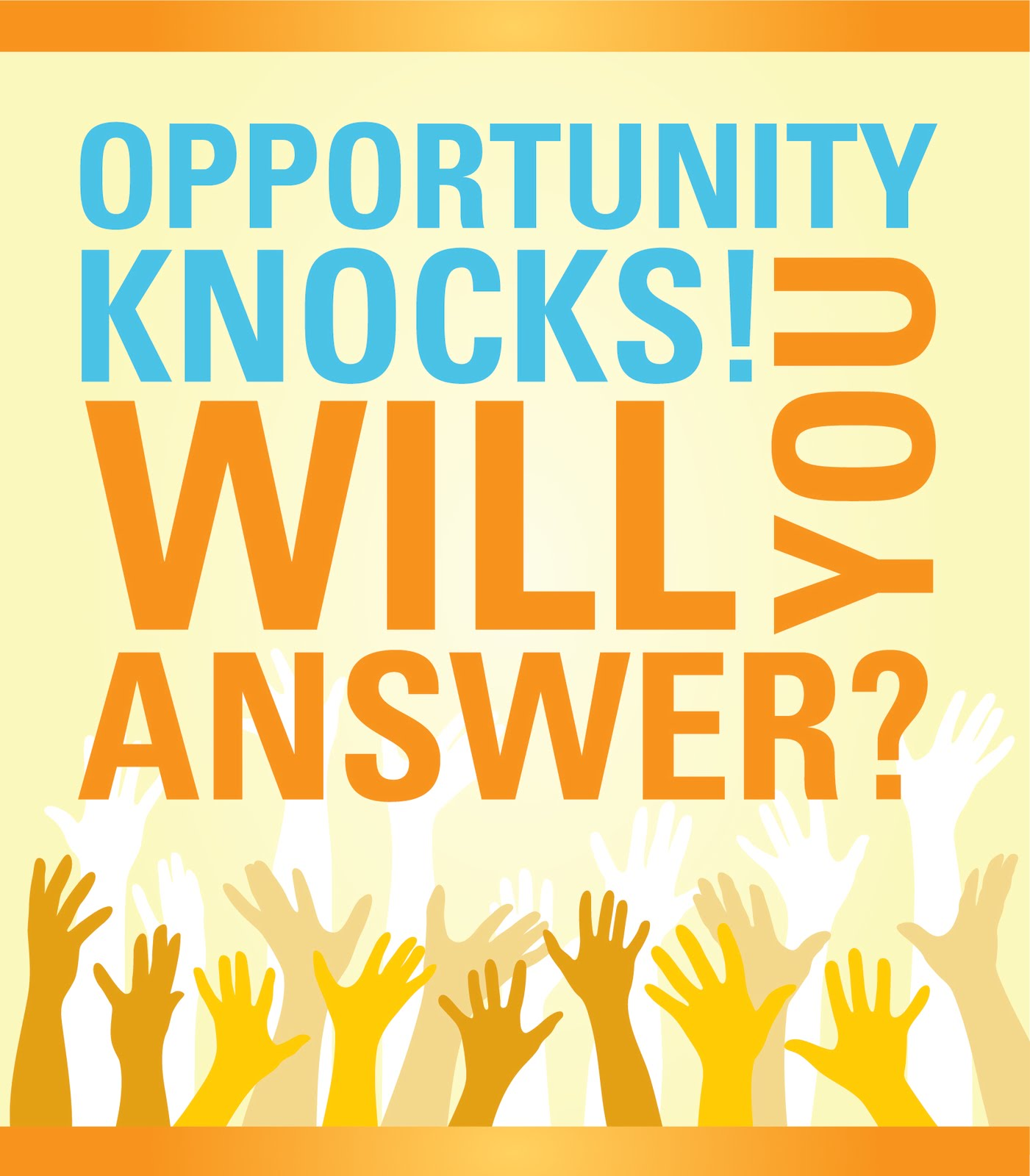 Image result for opportunity knocks pictures