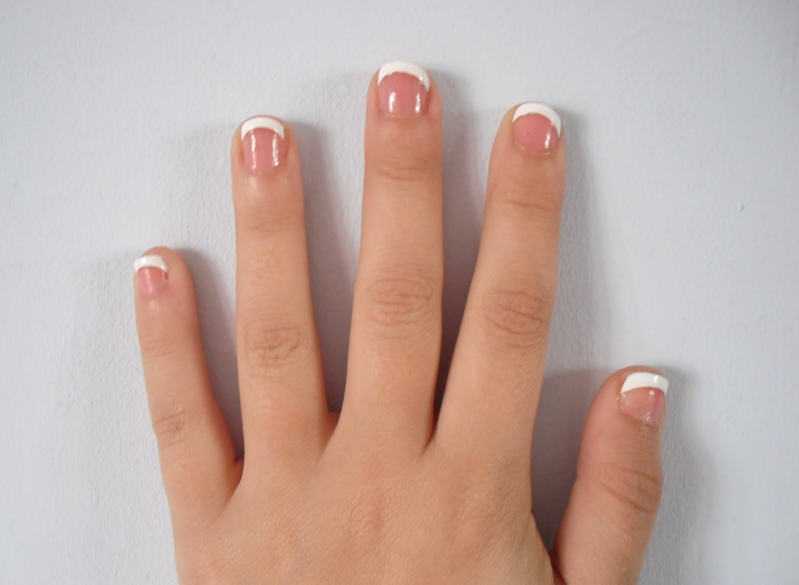 French Gel Manicure Short Nails Papillon Day Spa