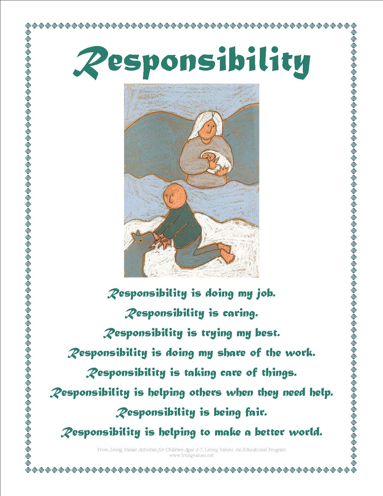Quotes About Responsibility For Children 81 Quotes